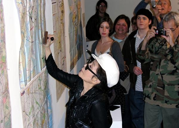 Yoko Ono Stamping
